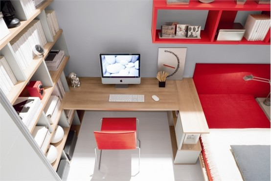 Cool Red And White Teen Room Design By Julia
