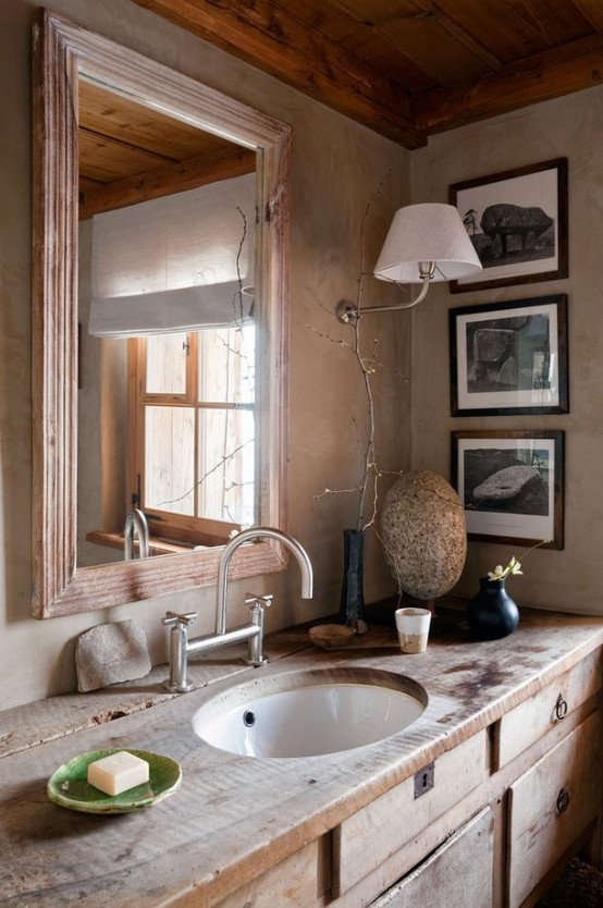 Cool Rustic Bathroom Designs