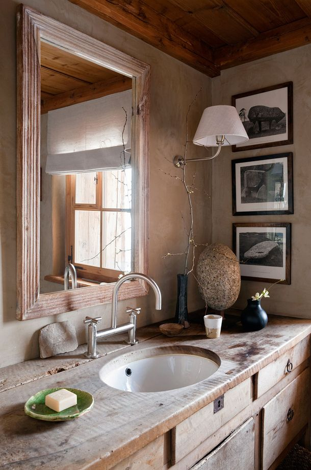 39 cool rustic bathroom designs digsdigs for Decoracion de interiores banos