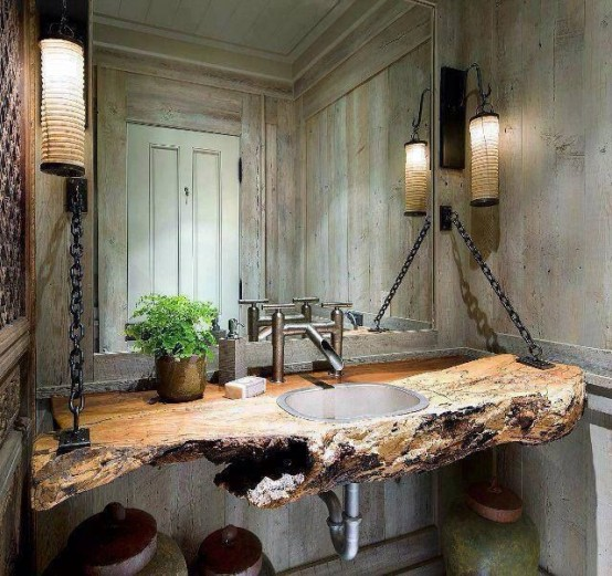 Attrayant Cool Rustic Bathroom Designs