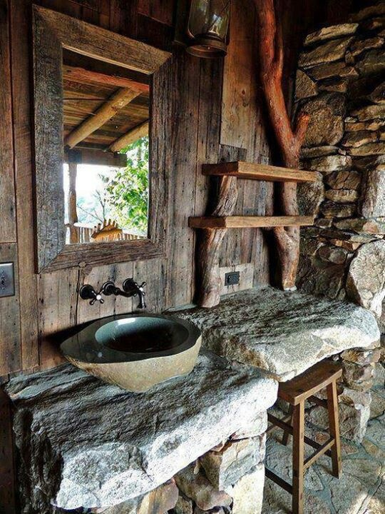 cool rustic bathroom designs - Rustic Bathroom