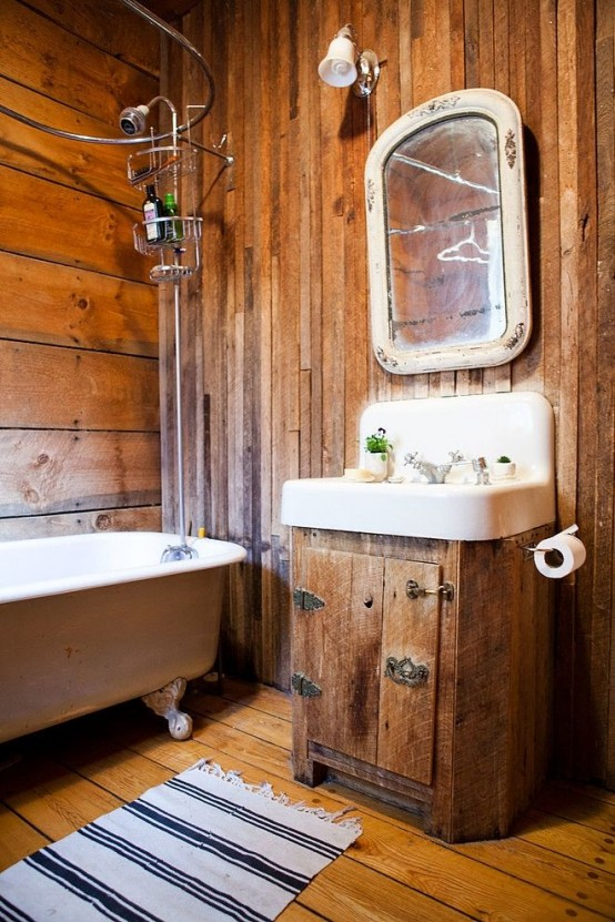 39 cool rustic bathroom designs digsdigs for Cool small bathroom designs