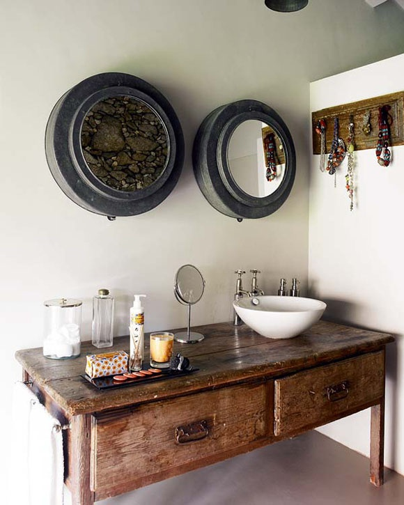picture of cool rustic bathroom designs