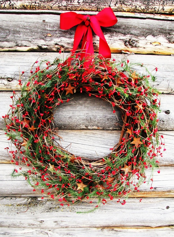 Cool rustic christmas decorations and wreaths digsdigs