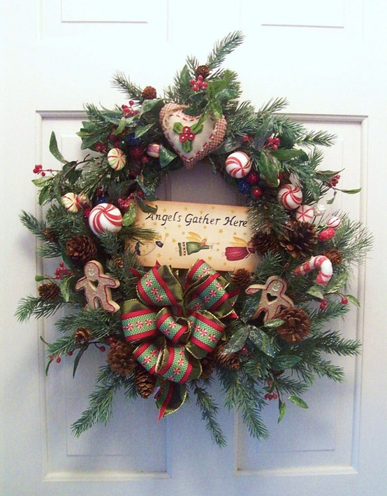 Pinterest christmas table centerpieces just b cause - Awesome christmas wreath with homemade style ...
