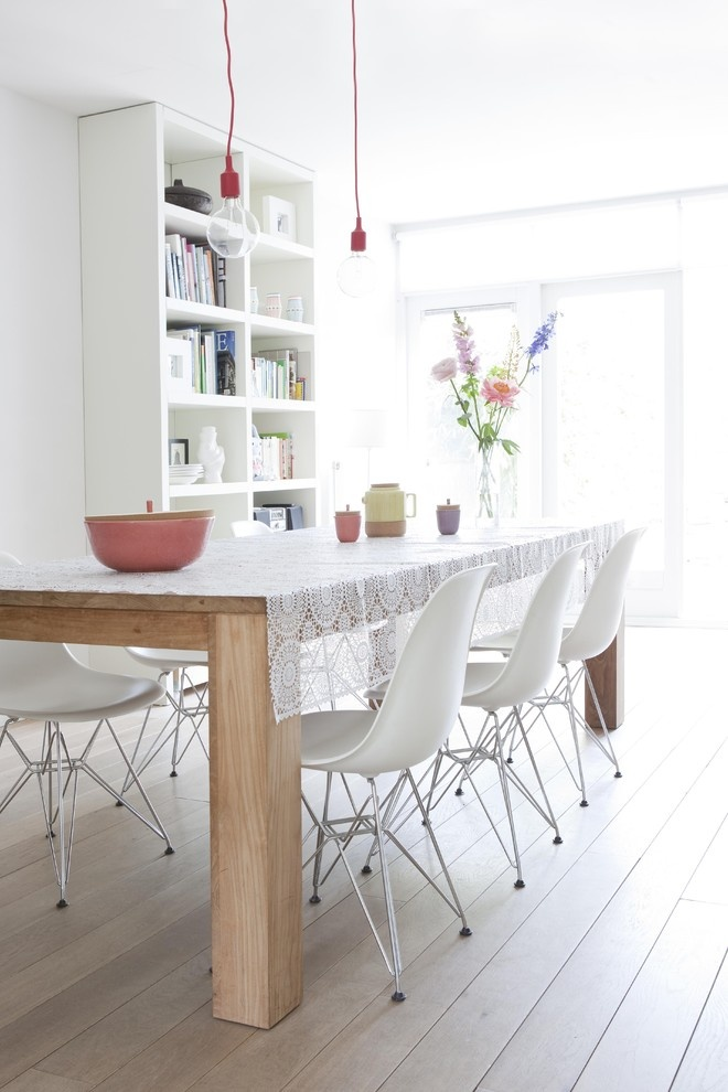 40 cool scandinavian dining room designs digsdigs for White dining room decor