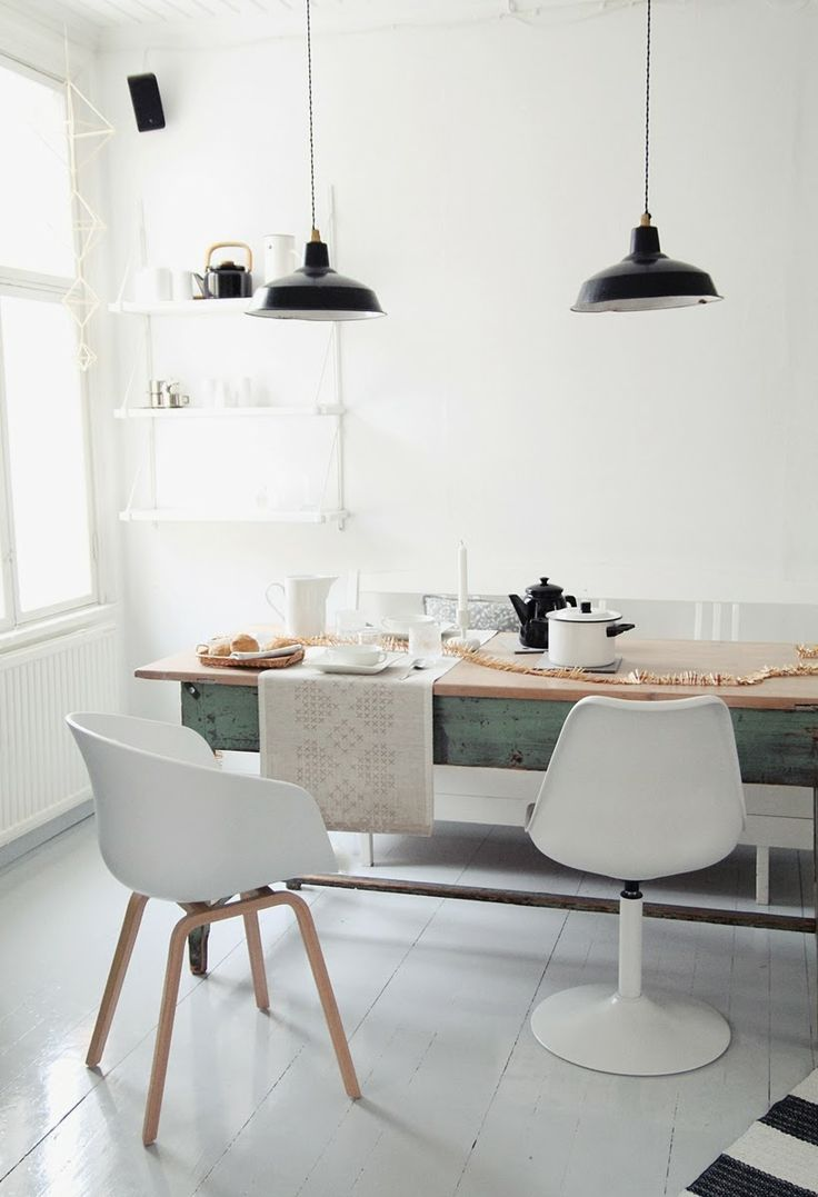 40 cool scandinavian dining room designs digsdigs for Design a table