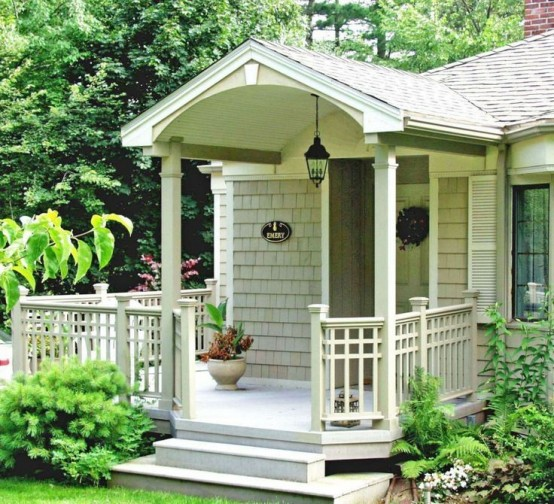 39 cool small front porch design ideas digsdigs for Small house deck designs