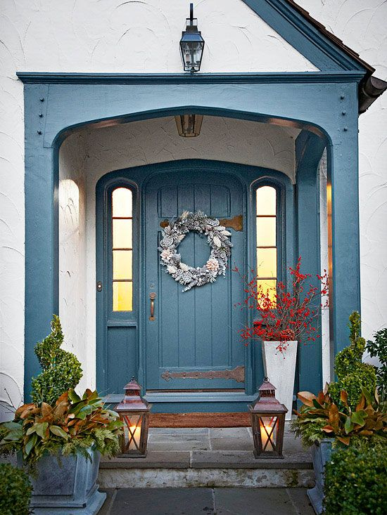 if your front porch is small but wide enough you can put some decor on both - Home Porch Design