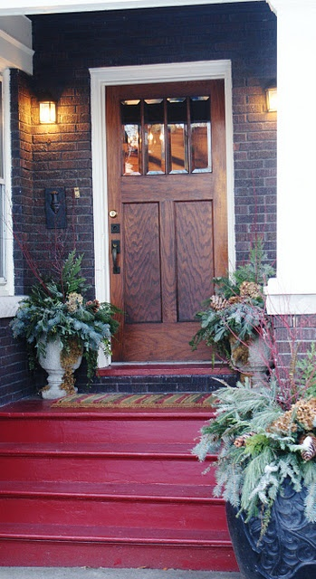 filling vases with seasonal stuff is always a great decor idea - Front Porch Design Ideas