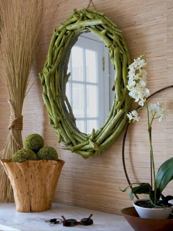 Creative Mirror Ideas 37 cool spring moss outdoor and indoor décor ideas - digsdigs
