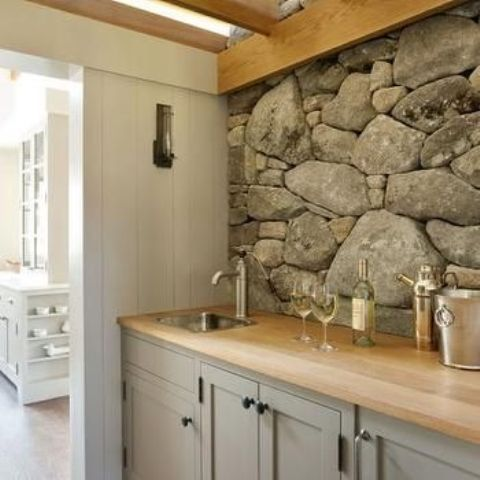 29 cool stone and rock kitchen backsplashes that wow digsdigs
