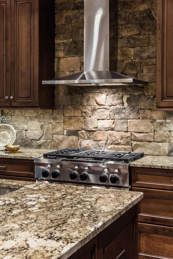 Kitchen Backsplash Rock 29 cool stone and rock kitchen backsplashes that wow - digsdigs