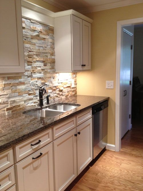 29 cool stone and rock kitchen backsplashes that wow cream herringbone stone mosaic kitchen backsplash subway