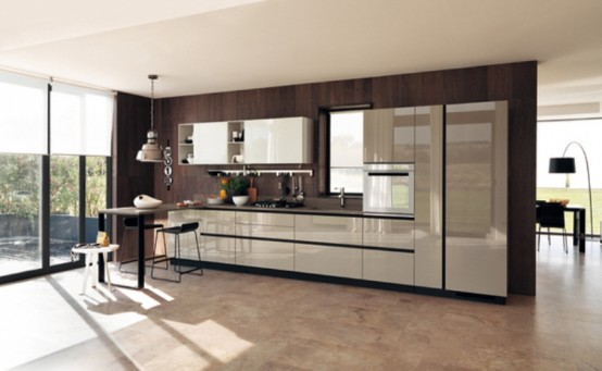 ultra modern kitchen dark cool ultra modern kitchen by scavolini digsdigs