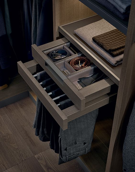 Picture of cool ways to organize men accessories at home 2 for Men s walk in wardrobe