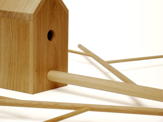 Cool Wooden Bird House For Apartment Inhabitants Brirdhouse By - Cool wooden bird house for apartment inhabitants brirdhouse by vlaemsch