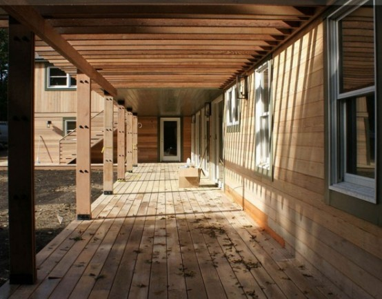 Cool Wooden Frame House Plan