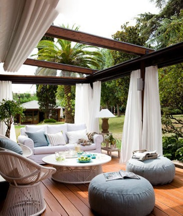 40 coolest modern terrace and outdoor dining space design for Outdoor living room ideas
