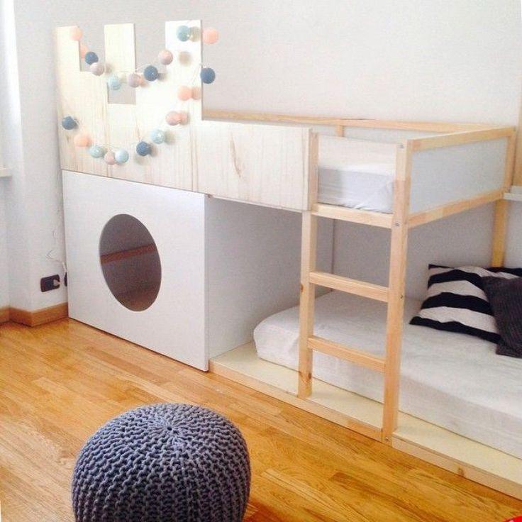 IKEA Kura bed with a little house inside