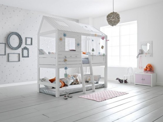 IKEA Kura bed turned into an awesome house