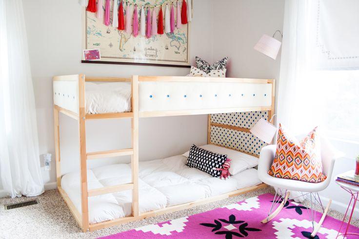 Upholstery looks great on IKEA Kura bed