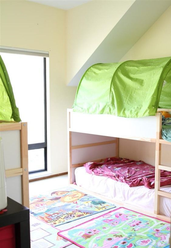 35 cool ikea kura beds ideas for your kids rooms digsdigs for Kura bed decoration