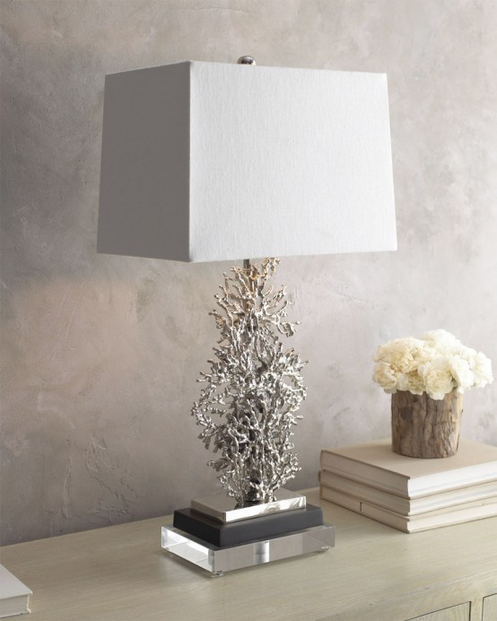 Coral Inspired Table Lamp