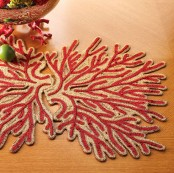 Coral Inspired Table Linens