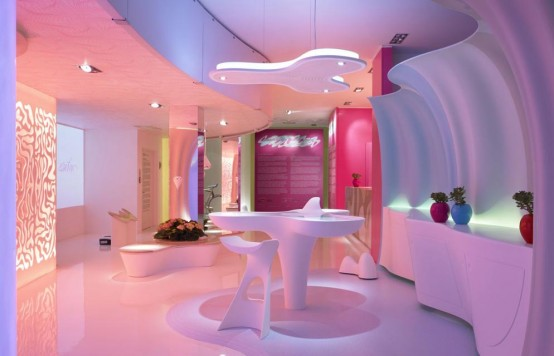 Futuristic Home Made Of Corian and Designed by Karim Rashid