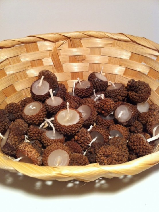 Thanksgiving Centerpiece With Acorns : Cozy acorn décor ideas for your home digsdigs