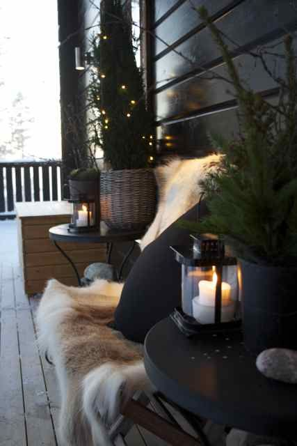 Cozy Time Thirteen Lust Worthy Fireplaces: 24 Cozy And Beautiful Winter Terrace Décor Ideas