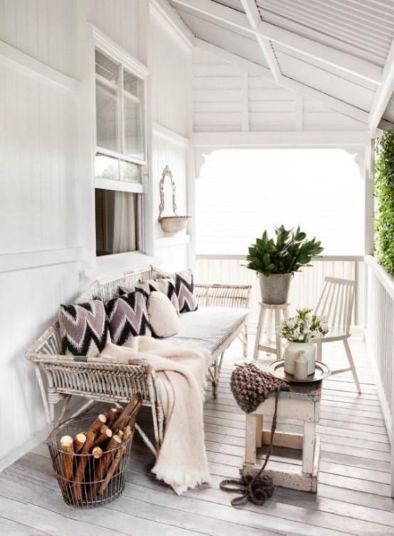 24 Cozy And Beautiful Winter Terrace D 233 Cor Ideas Digsdigs