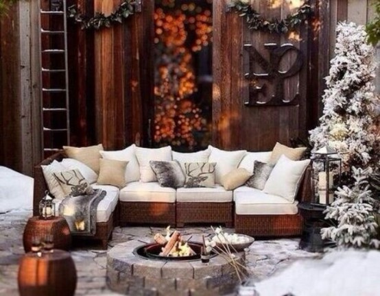 24 Cozy And Beautiful Winter Terrace D 233 Cor Ideas Digsdigs