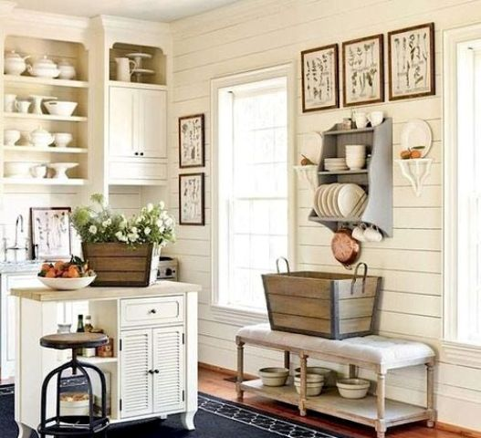 Ideas For Kitchen Wall Decor: 35 Cozy And Chic Farmhouse Kitchen Décor Ideas