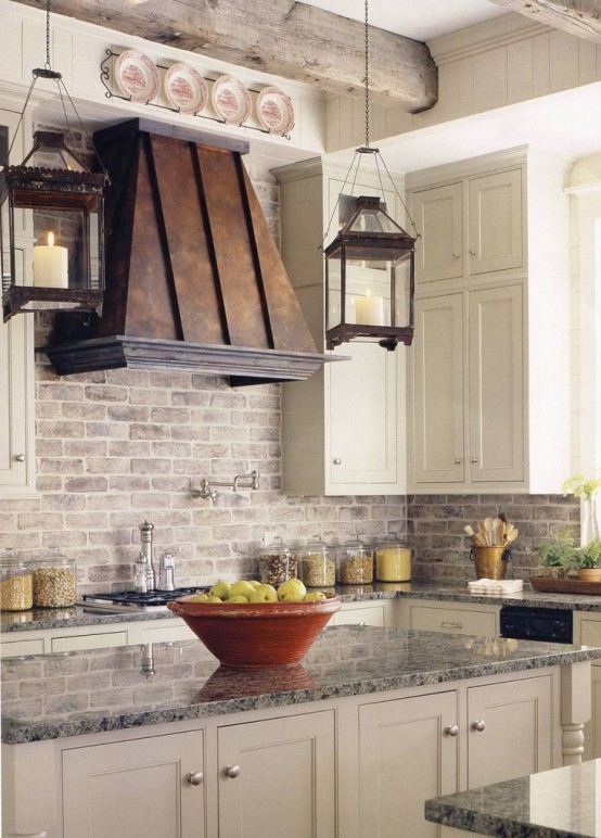 Farmhouse Kitchen Design Ideas Part - 18: A Vintage Copper Cooking Hood Could Be A Noticeable Element Of Any Kitchen  Design.