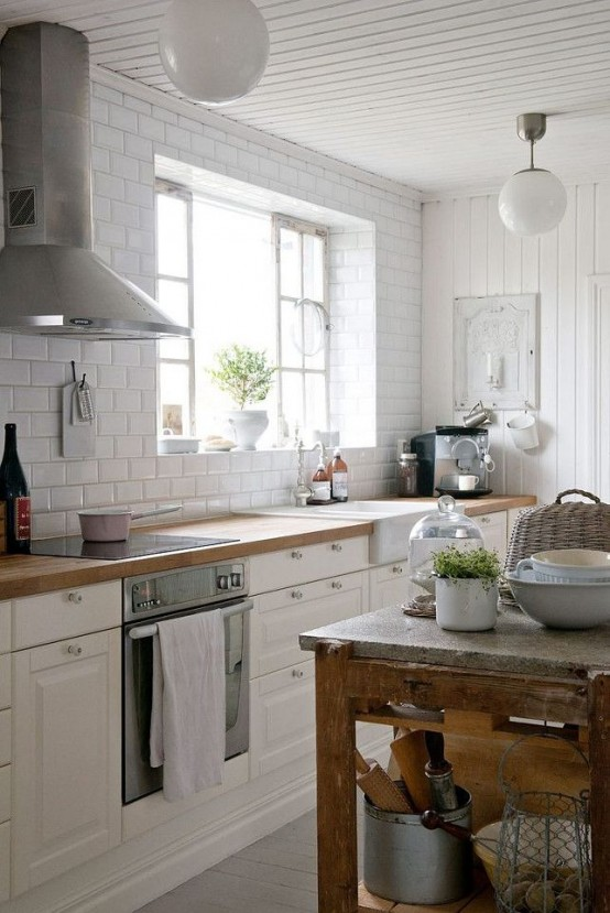 35 cozy and chic farmhouse kitchen d cor ideas digsdigs for Country style kitchen nz