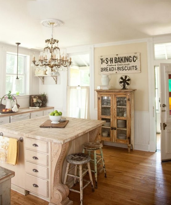 cozy and chic farmhouse kitchen decor ideas - Farmhouse Kitchen Decorating Ideas