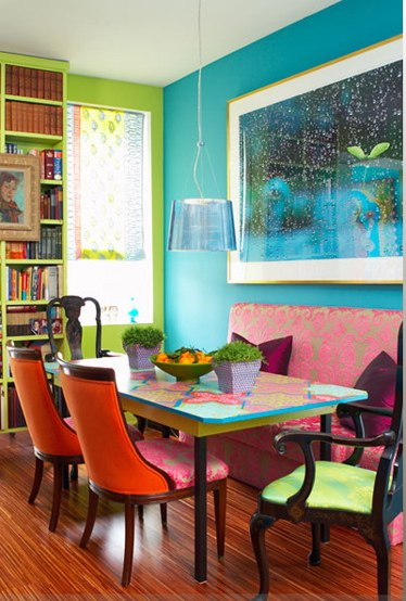 Lovely Cozy And Colorful Dining Room