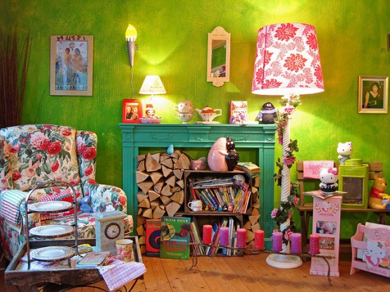Cozy And Colorful Reading Area