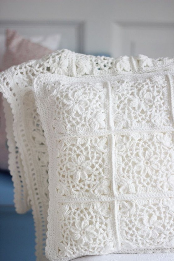 28 cozy and comfy crocheted pieces for home d cor interior decorating and home design ideas Crochet home decor pinterest