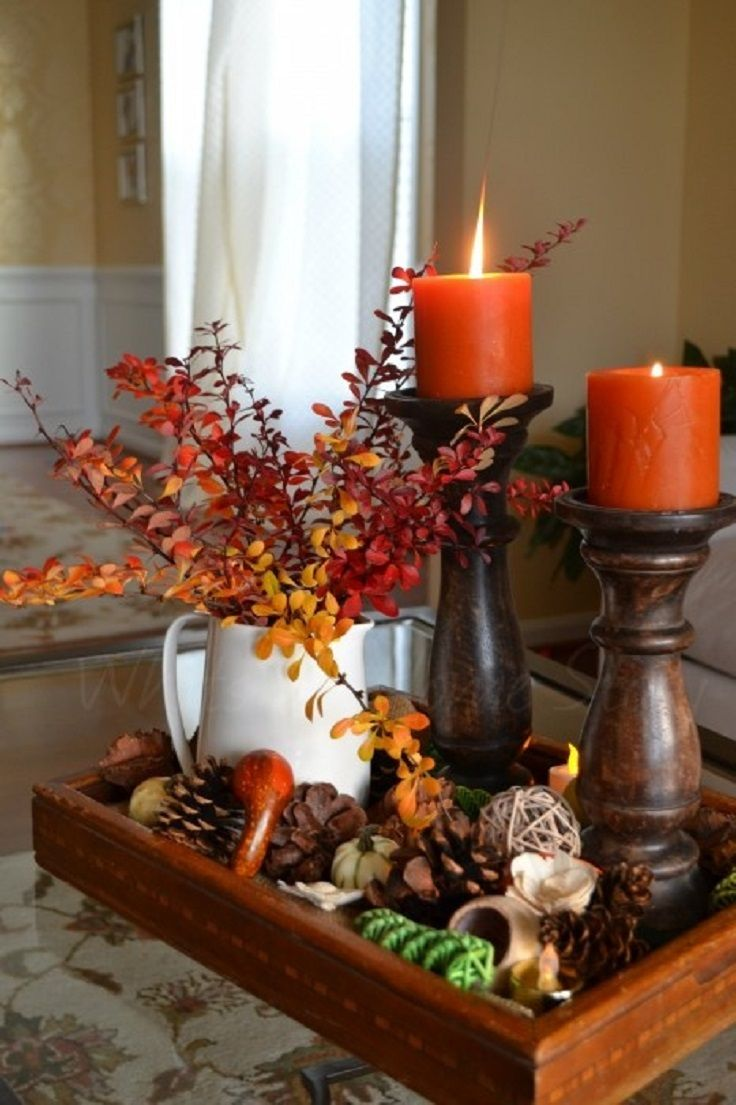Source pinterest for Fall table