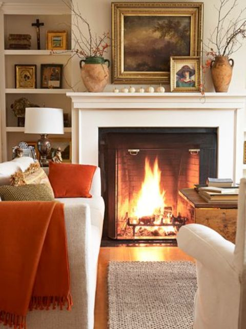 29 cozy and inviting fall living room d cor ideas digsdigs Warm decorating ideas living rooms