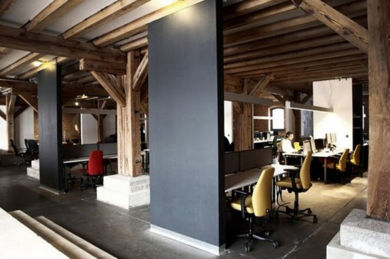 Cozy Stylish And Homey Office Design Digsdigs