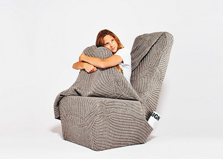 Cozy And Warm Armchair With A Woolen Blanket