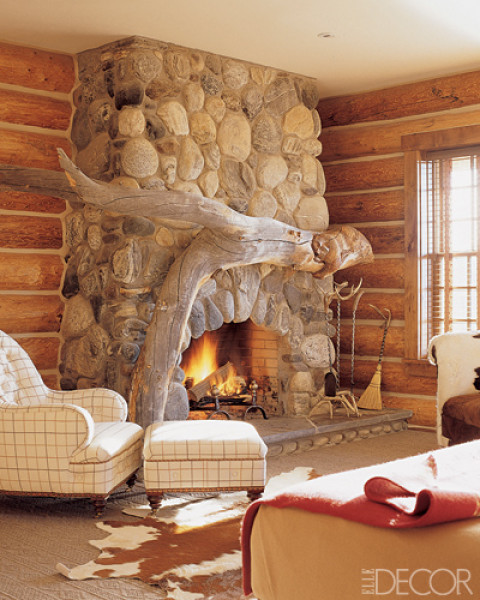Cozy Bedroom With A Handcrafted Mantel