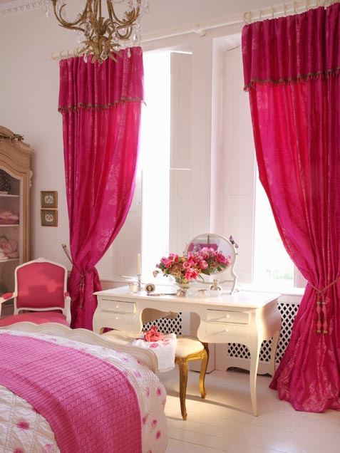 Cozy Bedroom With Bright Pink Accents
