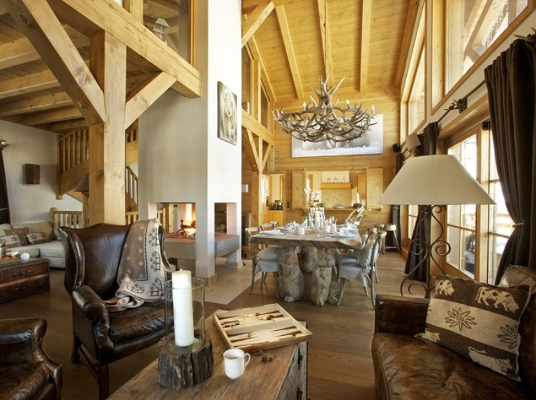 Cozy Chalet Totally Of Wood In France Digsdigs