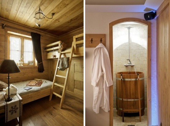 Cozy chalet totally of wood in france digsdigs - Artistic wood clad design for warm essence in your house ...