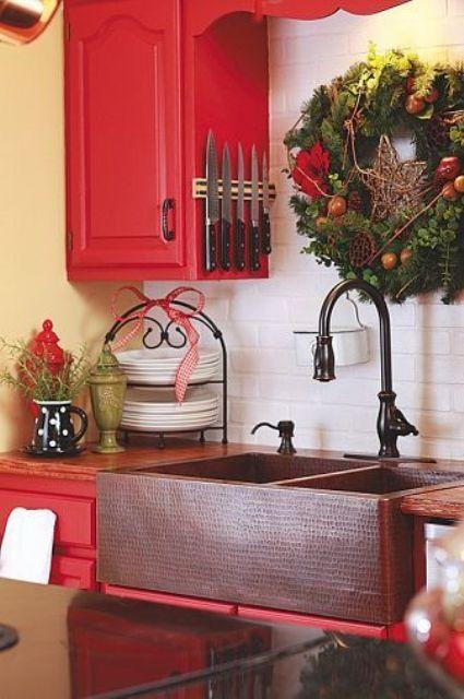 75 Cozy Christmas Kitchen D 233 Cor Ideas Digsdigs
